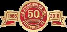 J.B. O'Connor 50 Years Seal